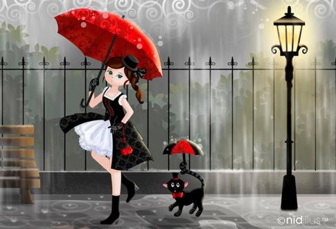 promenade sous la pluie 01-format carte postale72b