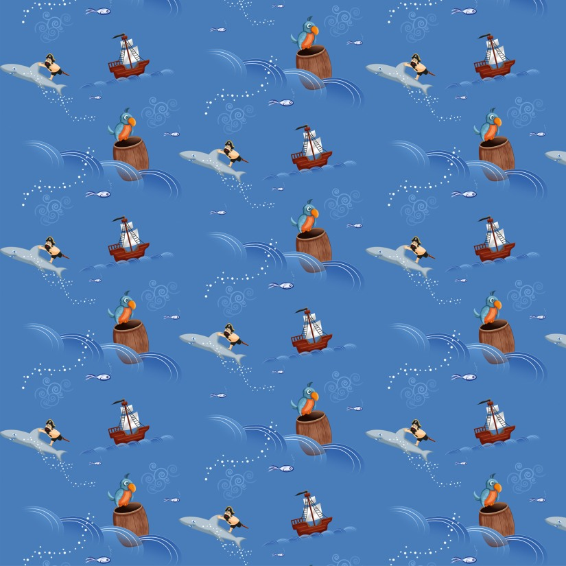 nidillus-visuel 25cm motifs pirates