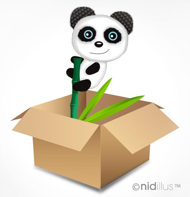 carton panda demenagement